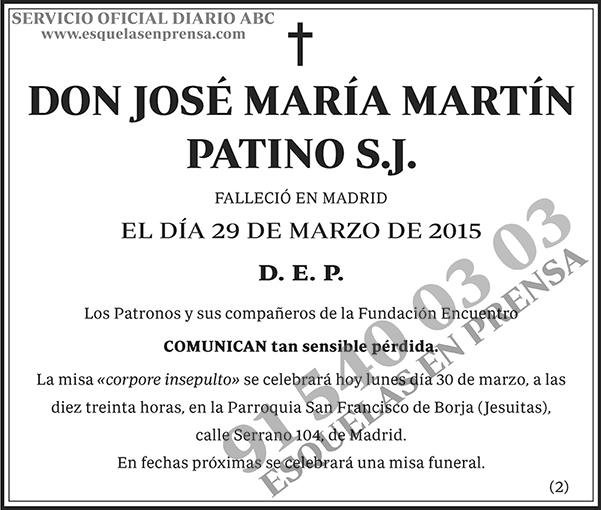 José María Martín Patino S.J.